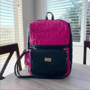 Betsey Johnson 2 for 1 Dog Backpack XBody Purse